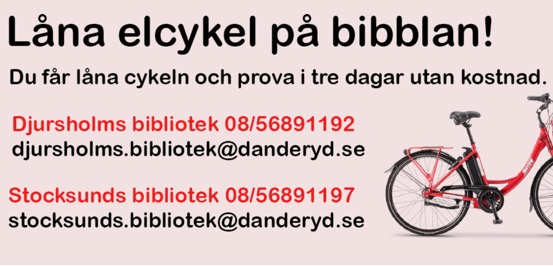 Hire an electric bike from the libraries in Danderyd - Life in Danderyd